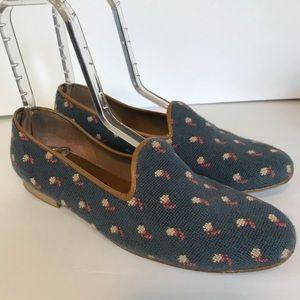 Zalo Needlepoint Tapestry Flats Loafers US Size 10